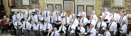 singing with Ilfracombe Male Voice Choir